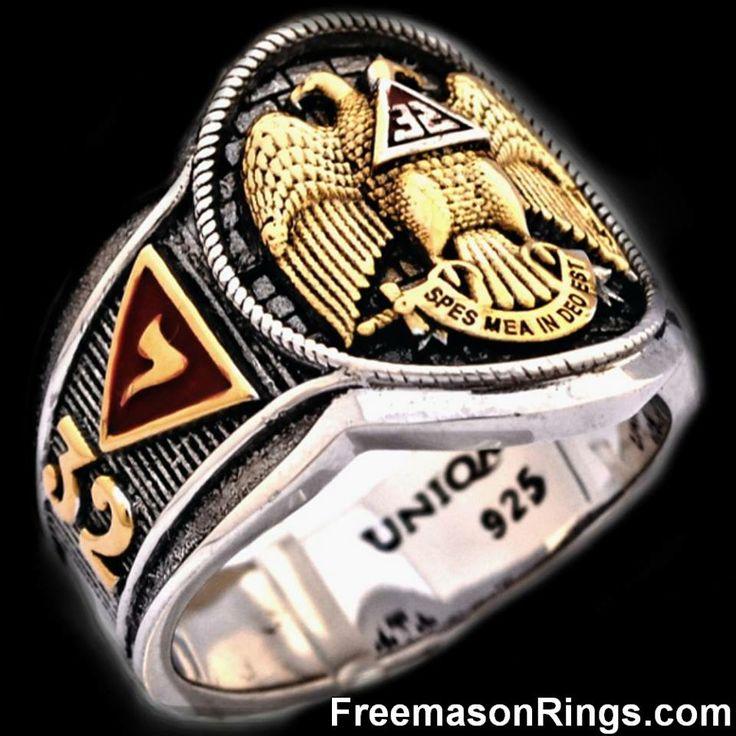 Scottish Rite Cigar Band Ring