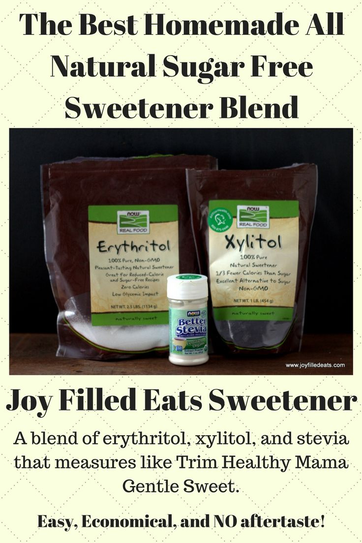 For those mamas on a budget you can mix up my sweetener that substitutes 1:1 for Gentle Sweet in all your favorite Trim Healthy Mama recipes. It's the perfect blend of xylitol, erythritol, and stevia. It is twice as sweet as sugar with no aftertaste. via @joyfilledeats