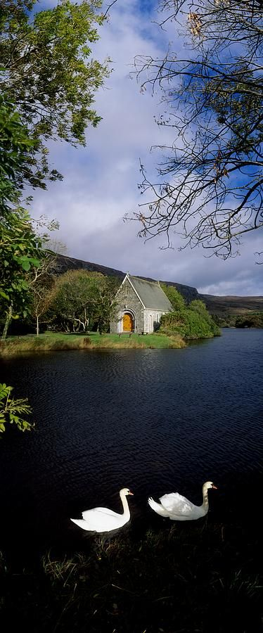 Chapel At Gougane Barra, Co Cork Photograph by The Irish Image Collection - Chapel At Gougane Barra, Co Cork Fine Art Prints and Posters for Sale