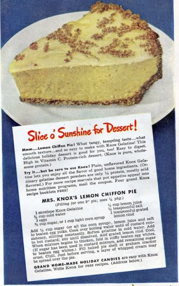 Chronically Vintage: This 1940s Lemon Chiffon Pie recipe is the perfect springtime dessert
