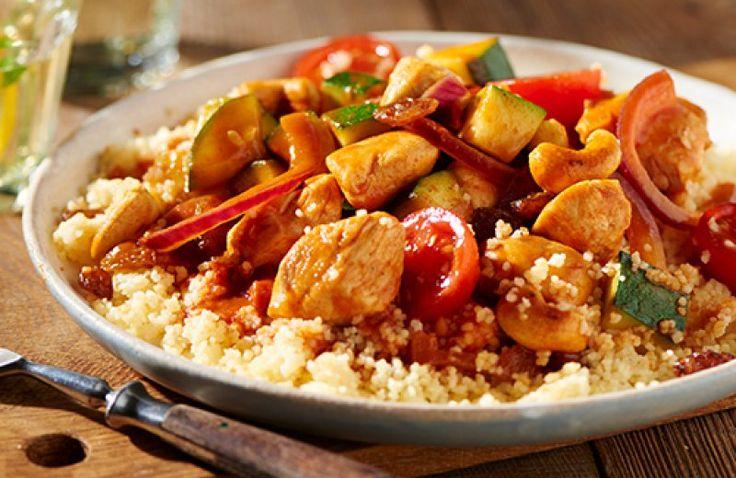Pittige couscous met kip en groenten