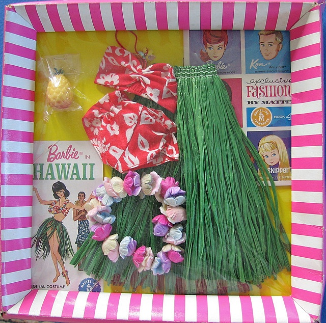 Remembering when Barbie clothes came in these packages!! barbie hawaiian clothing and items
