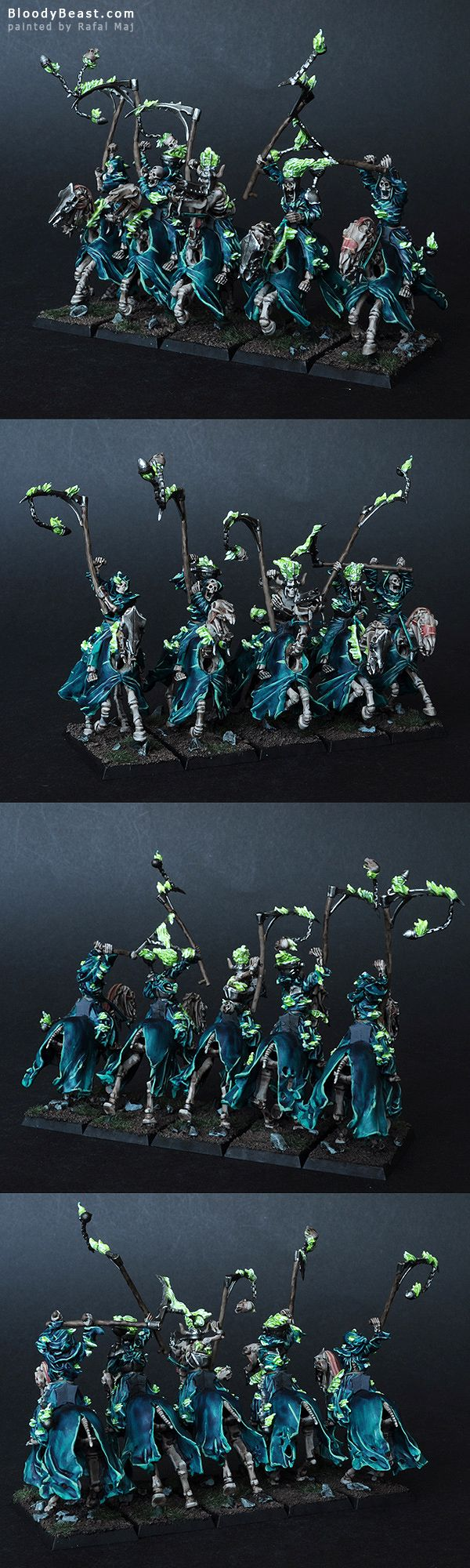 Vampire Counts Hexwraiths painted by Rafal Maj (BloodyBeast.com)