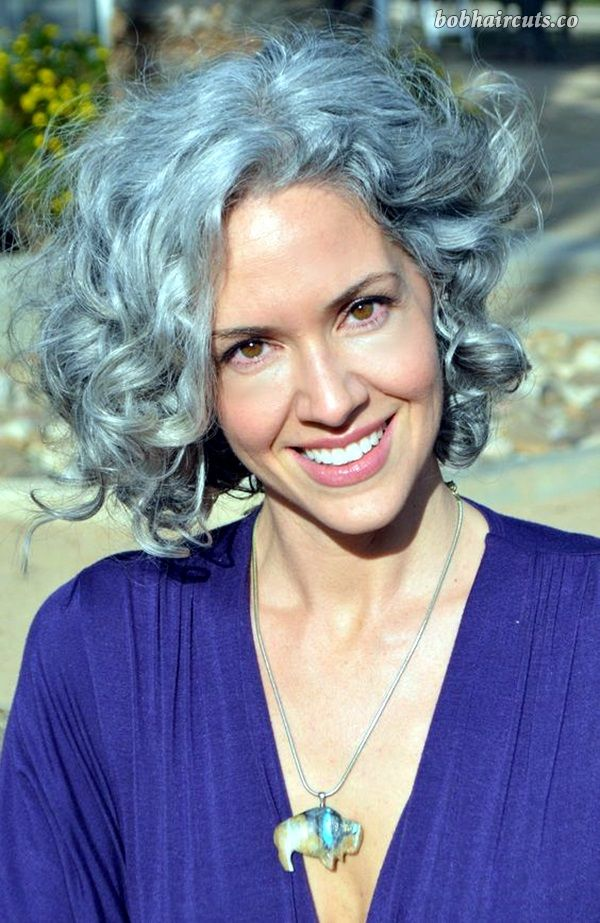 curly gray hair styles 45 hairstyles for 50 12 8849