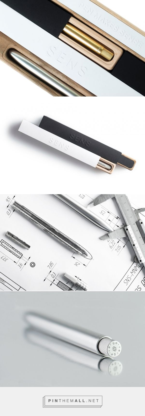 The Most #Minimal #Pen #packaging by Verge-style (#Ukraine) - http://www.packagingoftheworld.com/2016/03/the-most-minimal-pen.html