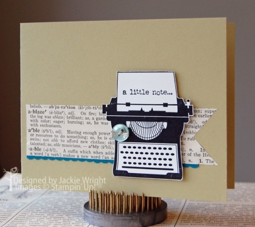 Stampin' Up! SU, Jackiestamps4fun: Cards Design, Cards Ideas, Stamps Sets, Typewriters Cards, Cards Papercraft, Note Typewriters, Note Cards, Paper Crafts, Cards Typewriters