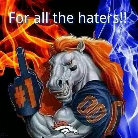 44 years a fan, I've heard it all...and I STILL LOVE my Denver Broncos! #KMGLIFE