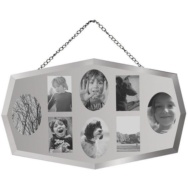 gallery mirrored 8 aperture collage photo frame 84 liked on polyvore featuring home
