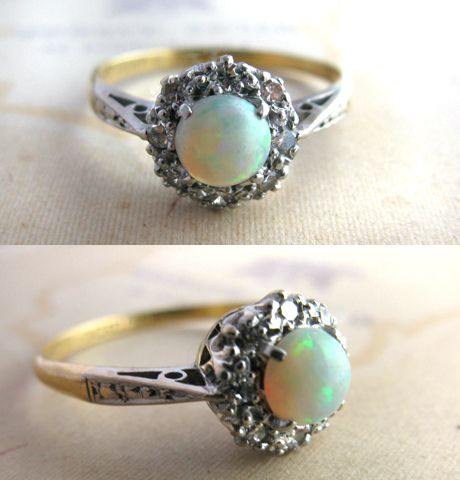Vintage opal ring. Lovely.