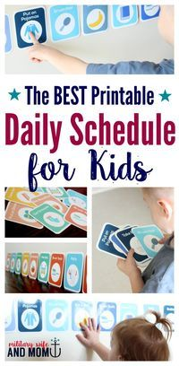Whether you're looking for a toddler schedule or school-aged routine, this printable daily schedule for kids is customizable and can work for any age. *This is a must have for every parent!