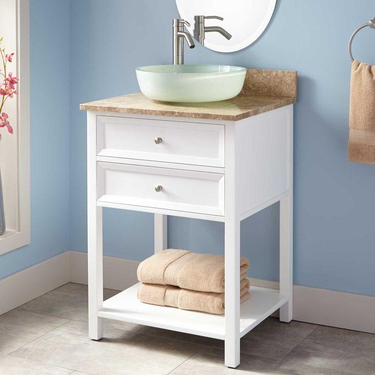 24 Wynne Vessel Sink Vanity White Vanity Cabinet Vanity Vessel Sink Vanity