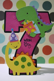 redheaded crafter: Dinosaur Card & Party for Chloe