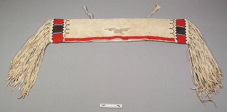 Провизионная седельная сумка, Лакота.  Army Medical Museum. Коллекция Dr Samuel M. Horton, 1866.  Небраска или Вайоминг. NMNH.