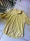 ♡※ Tommy Bahama Shirt Mens L #Silk Blend Yellow #Stripe Short #Sleeve Ending Soon http://ebay.to/2B8zNag