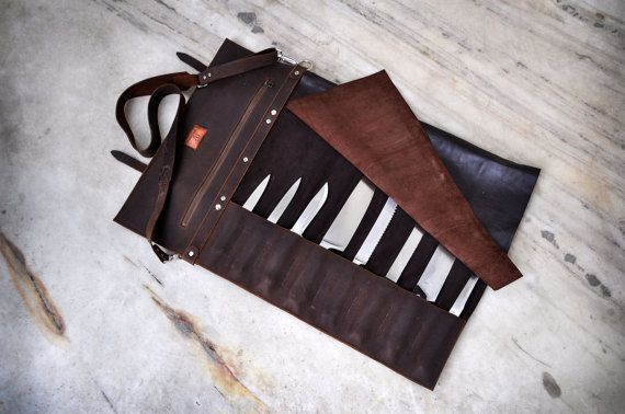 Chef Knife Roll Westbrook Leather Knife Roll Leather