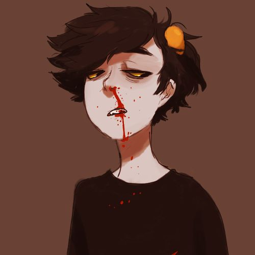 why the nosebleed karkat? hmmmm