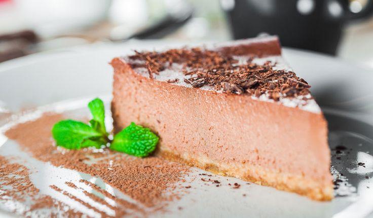 Rezept für einen leichten Low Carb Schokoladenkuchen - kohlenhydratarm, kalorienarm, ohne Zucker und Getreidemehl