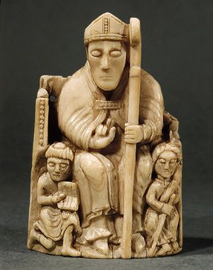 Medieval 12th Century English chess piece.  If this is what the bishop looks like, I can only imagine what the king or queen must have been like.