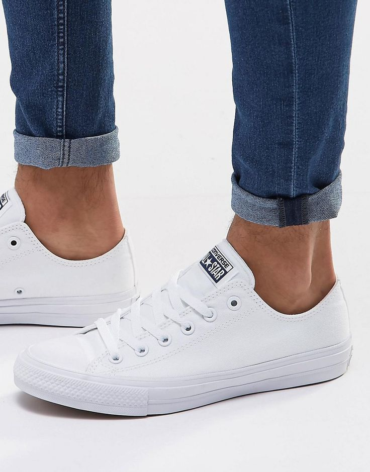 Image 1 of Converse Chuck Taylor All Star II Plimsolls In White 150154C