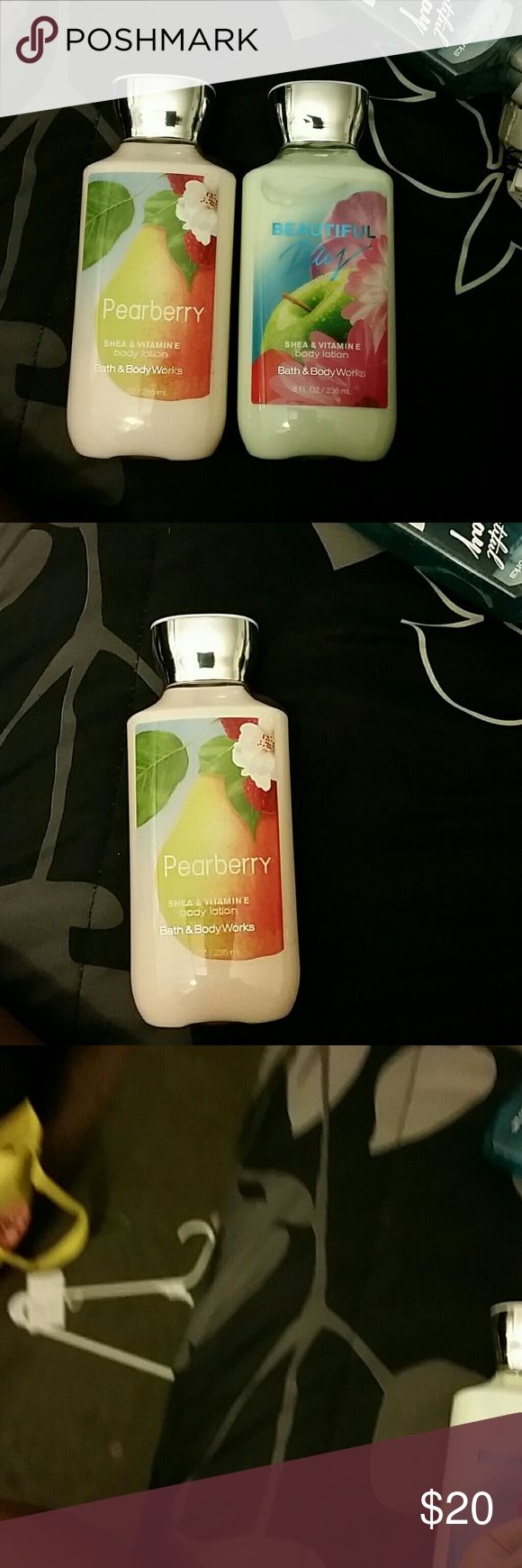 Bath n body lotion 2 new lotions 1 new Beautiful day 1 new pearberry Bath n body Works  Other