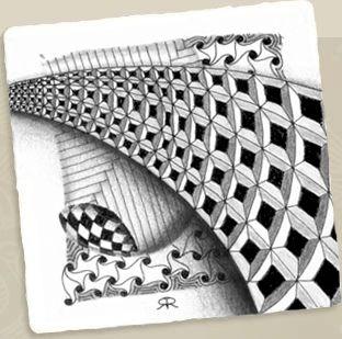 zentangle+by+rick+roberts | Zentangle y letras – Deletras, apúntate online en The Hobby Maker