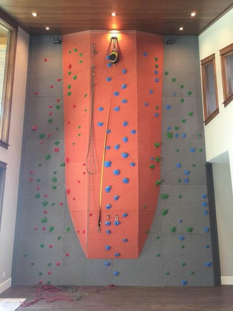 home climbing wall by elevate climbing walls - Walls By Design