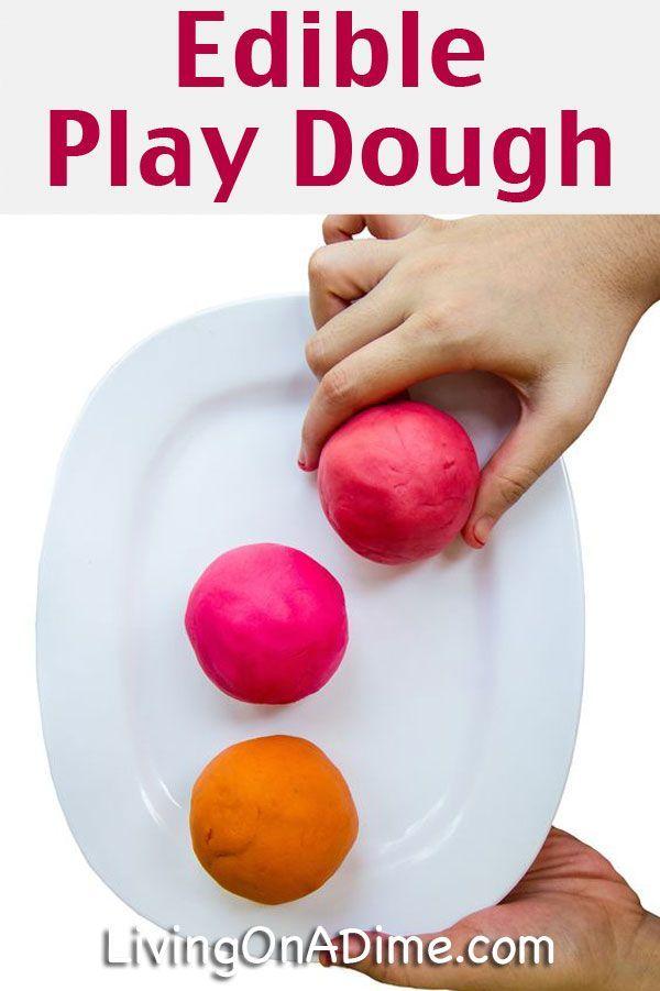 Homemade Edible Play Dough Recipe - easy kid fun!
