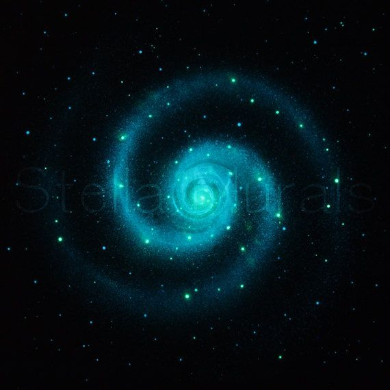 Glow in the Dark Star Ceiling Poster - SUPER BRIGHT - Large Spiral Galaxy - teenagers gift on Etsy, $80.00