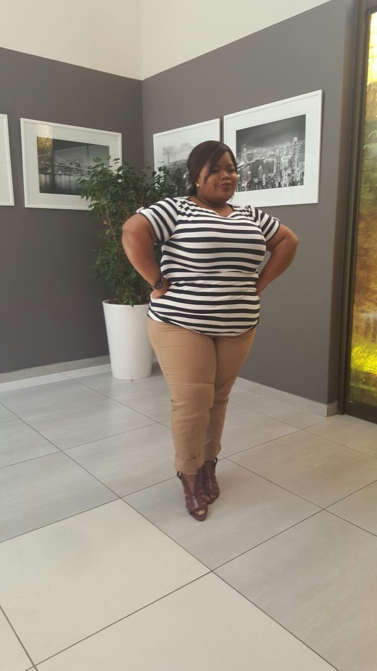Stripe great outfit... styled by Molebo