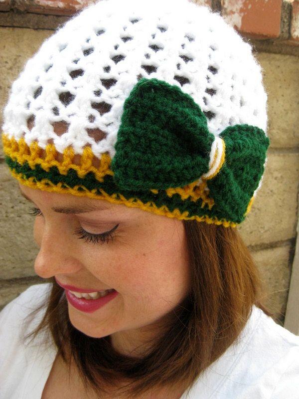 Women's Green Bay Packers Football Team Beanie  or by LapofLuxury, $22.00
