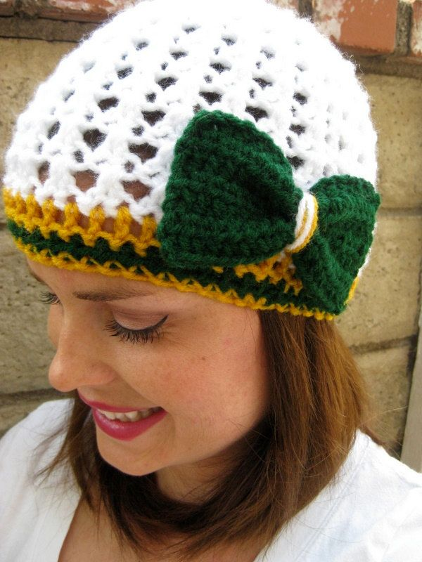 Women's Green Bay Packers Football Team Beanie  or by LapofLuxury, $22.00