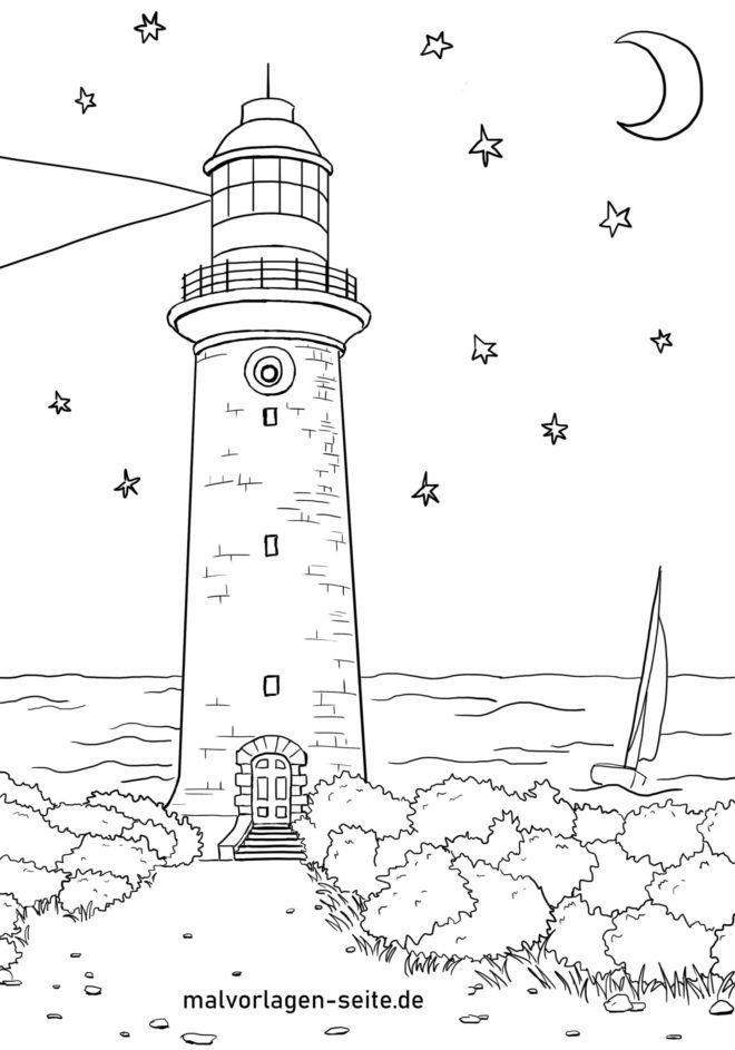 malvorlage leuchtturm  gebäude  kostenlose ausmalbilder