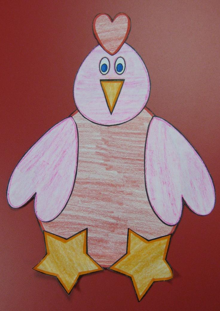 The Little Red Hen Shape Craft art