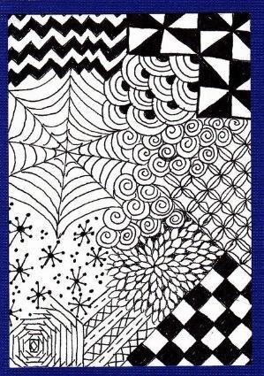 zentangles for beginners | Zentangle for Beginners #2 - craftycrocheter by kristin.small
