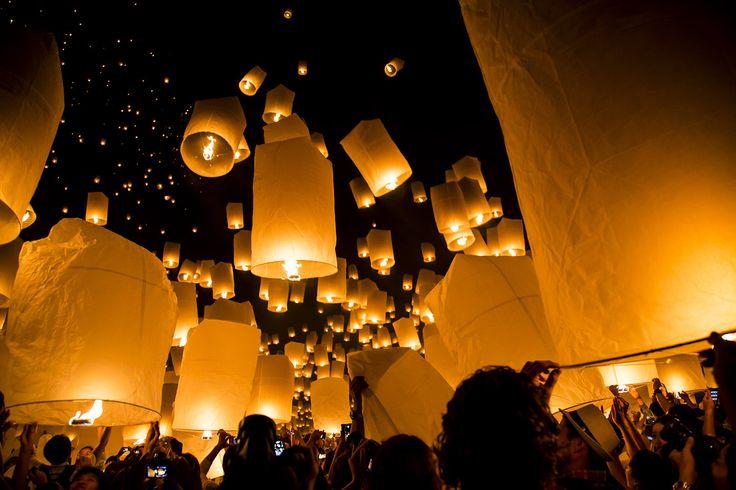 Yee Peng, festival delle lanterne, Chiang Mai