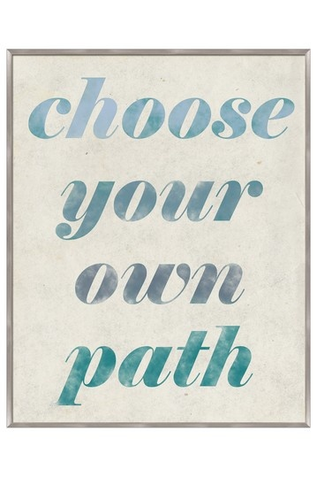 Choose Your Own Path Inverse Framed Wall Art