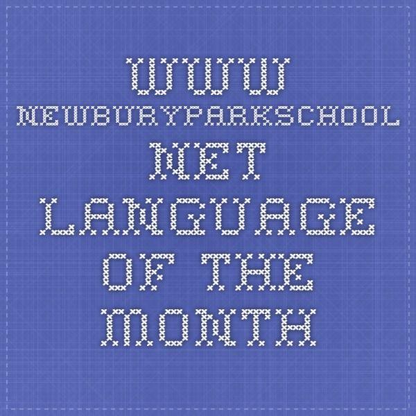 www.newburyparkschool.net - Language of the Month
