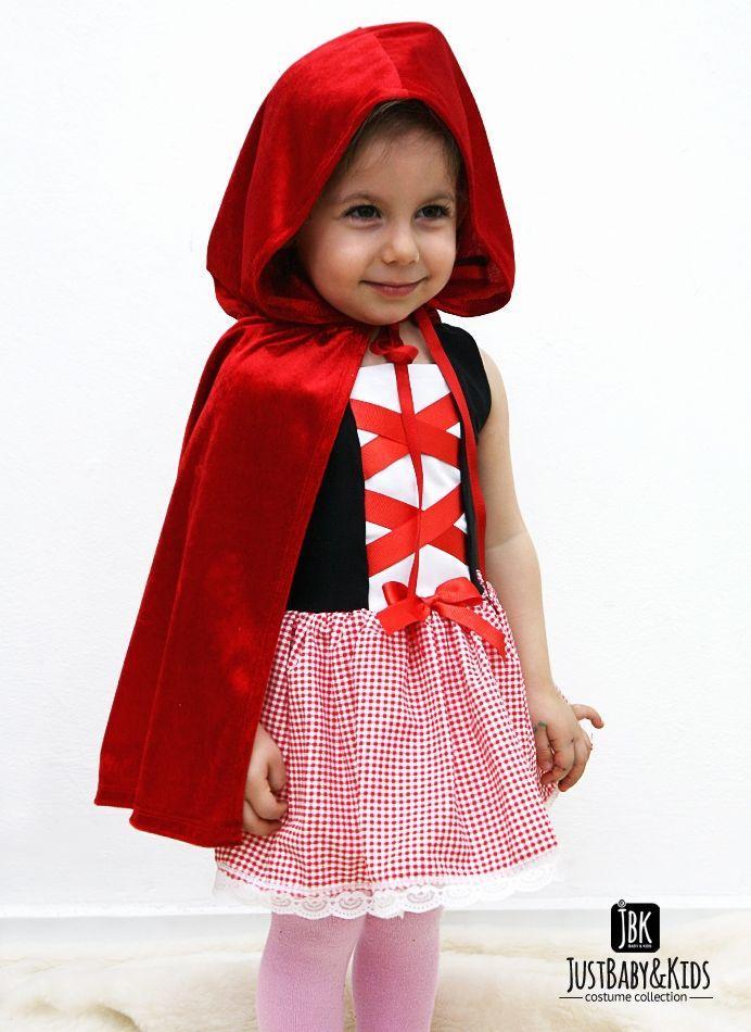 CCK03 Kırmızı Başlıklı Kız Kostümü Just Baby & Kids - Bebek ve Çocuk Kostüm - Giyim