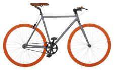 Vilano Fixed Gear Bike Fixie Single Speed Road Bike 54 cm Grey / Orange