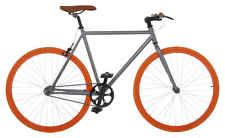 Vilano Fixed Gear Bike Fixie Single Speed Road Bike 54 cm Grey / Orange