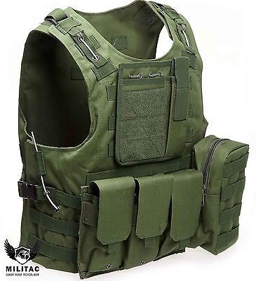 Green tactical vest. #airsoft #/paintball molle #combat assault vest + mag pouche,  View more on the LINK: 	http://www.zeppy.io/product/gb/2/281496105877/