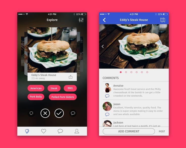 Restaurant finder app showcase full pixels