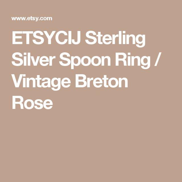 ETSYCIJ Sterling Silver Spoon Ring / Vintage Breton Rose