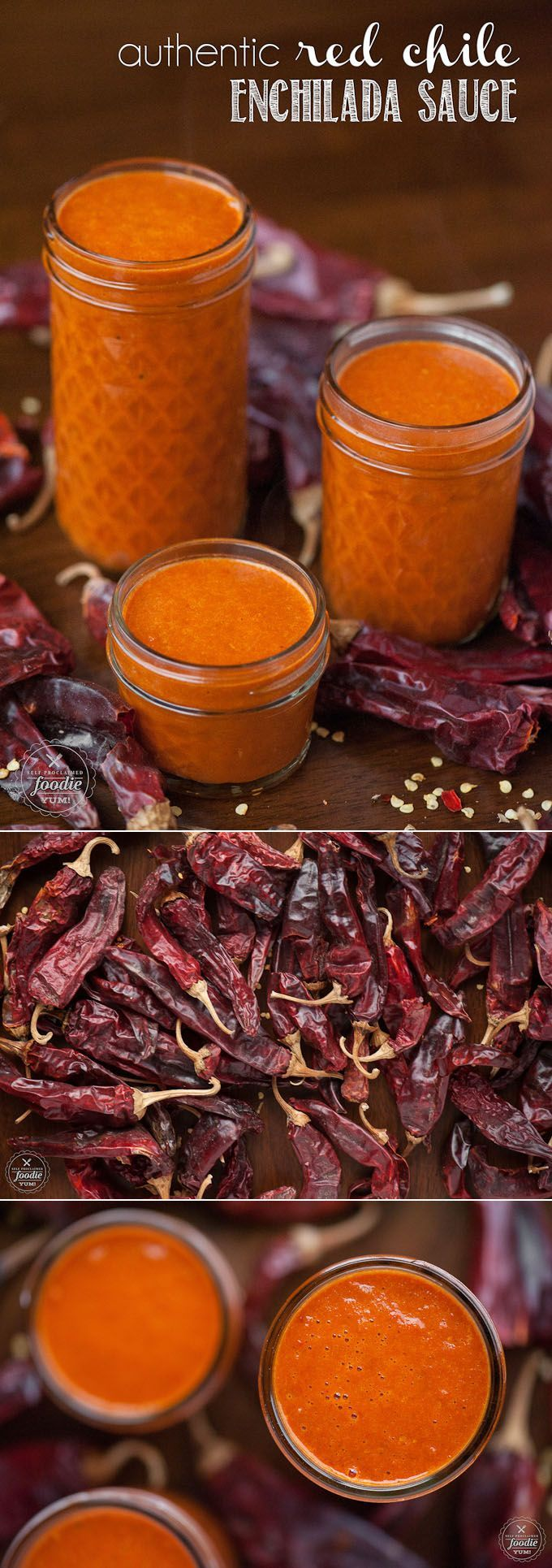 Create your own Authentic Red Chile Enchilada Sauce made with dried New Mexican red chile pods and use on burritos, enchiladas, eggs, tamales - anything!