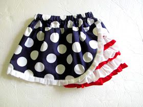 mama says sew: 4th of July Ruffle Skirt