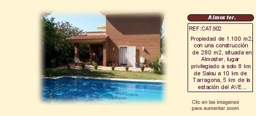 Chalet en venta Almoster Baix Camp costa dorada Tarragona