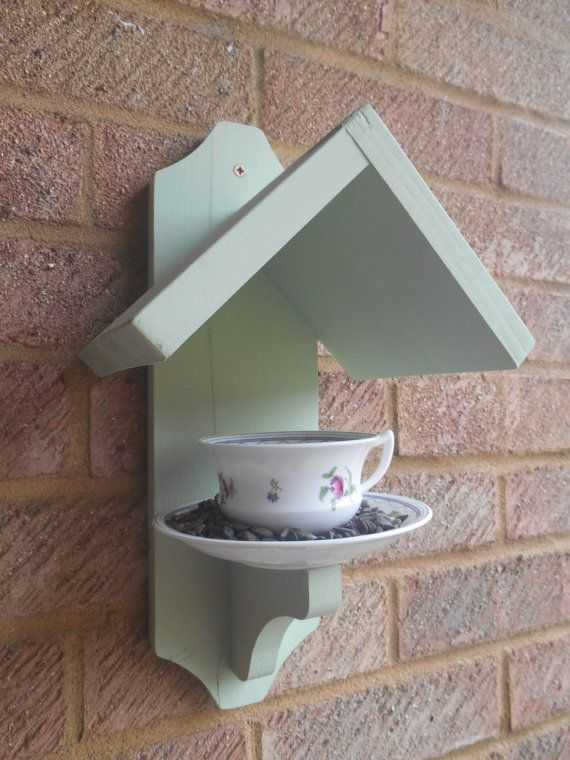 Tea Cup Bird Feeder - Vintage Cup and Saucer