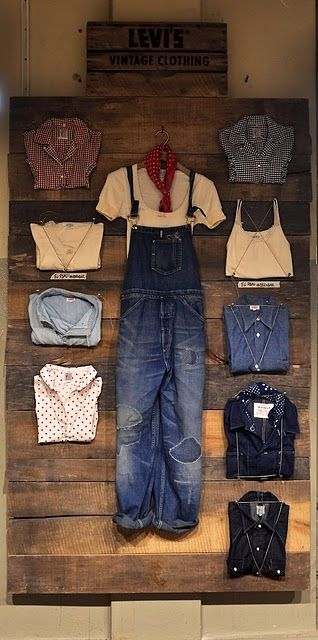 I have a weak spot for denim overalls, white shirts and plaid