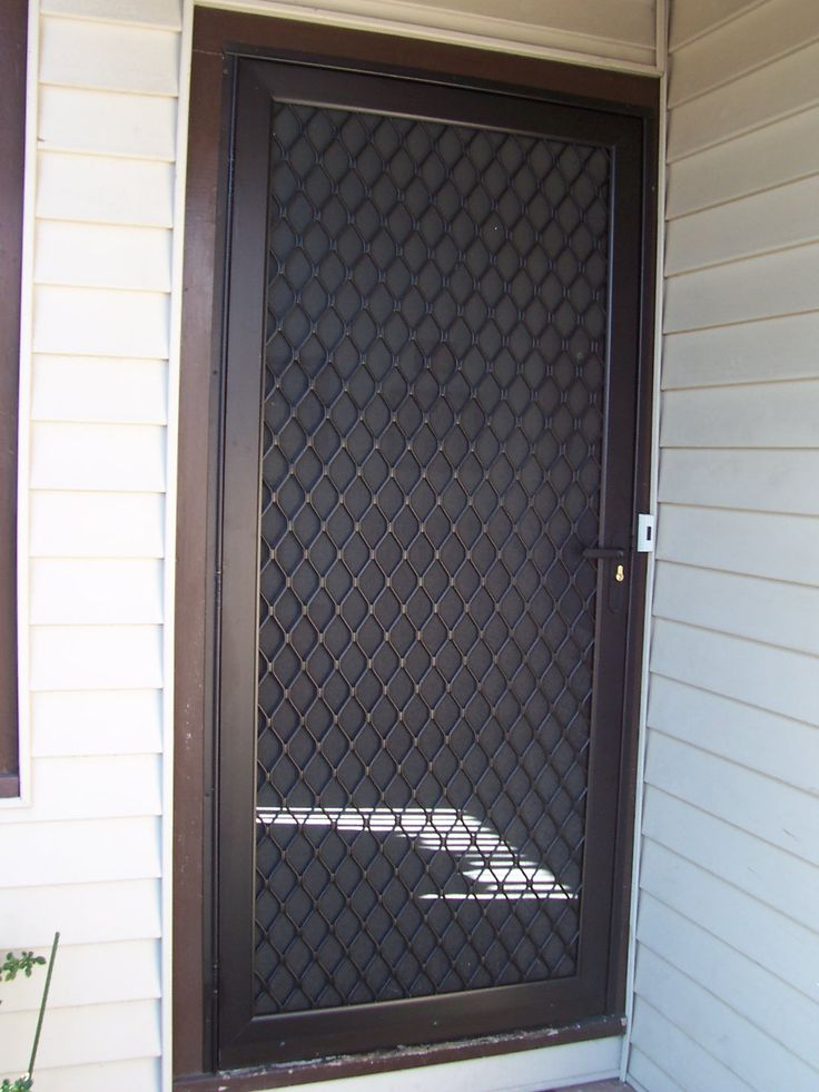 Door screening screen doors swinging screen doors for Security screen doors for french doors
