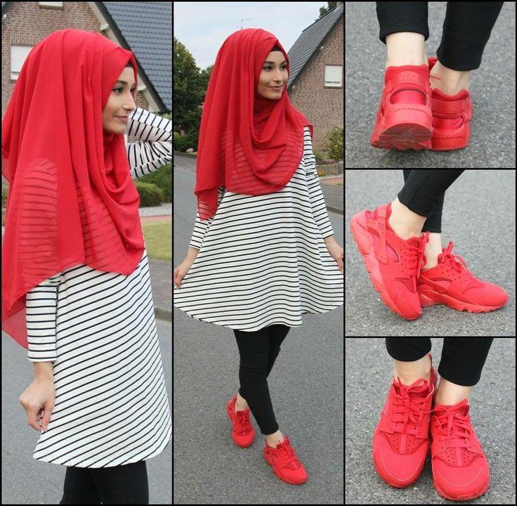 Tunika - @veronacollection oder Online -->> www.verona-collection.co.uk  Kostenlose Lieferung für die nächsten 3 Tage bei einem Bestellwert von 30€ <3  Shoes / Schuhe / Ayakkabilar - Nike Huarache Hijab / Kopftuch / Basörtü - www.misselegance.de (Hijab 207)